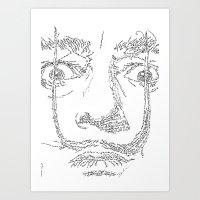 Salvador Dalì WordsPort… Art Print