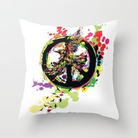 Peace & Peace Throw Pillow