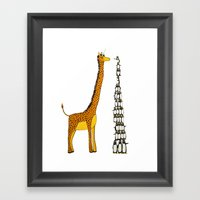 Who Is Taller Giraffe Or… Framed Art Print