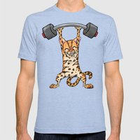 Ocelot Power Lifter Mens Fitted Tee Tri-Blue SMALL