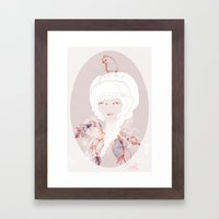 Portrait with Chick Framed Art Print