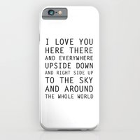 iPhone Cases featuring I Love You Everywhere by Rendra Sy