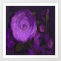The Purple Rose Art Print