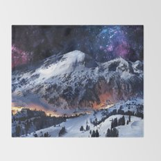 Mountain CALM IN space view Throw Blanket