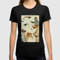 Ornithology Womens Fitted Tee Tri-Black SMALL