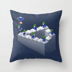 Lem C. Escher Throw Pillow