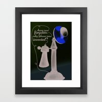 Have you forgotten why phone was invented? Framed Art Print