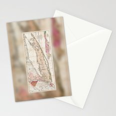 Long Island, New York  1842 Mather Map Stationery Cards