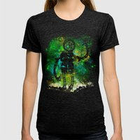 Mad Robot Womens Fitted Tee Tri-Black SMALL