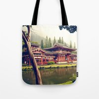 Byodo-In Temple/ Hawaii Tote Bag