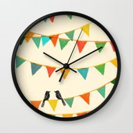 Wall Clock featuring Carnival Is Coming To To… by Budi Kwan