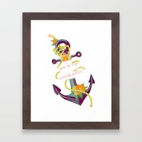 You're My Anchor Framed Art Print