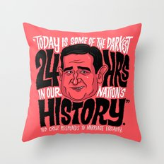 The Darkest Hours in our Nation Throw Pillow
