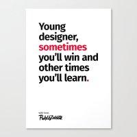 Young Designer — Advice #2 Canvas Print