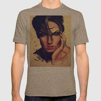 Adamantine Mens Fitted Tee Tri-Coffee SMALL