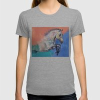 Graceful Jets Womens Fitted Tee Tri-Grey SMALL