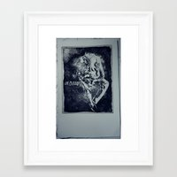 A man without Framed Art Print