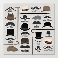 Moustache Styles Canvas Print