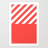 Infrared Lines / White Art Print