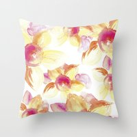 Sunflowers Watercolor Throw Pillow