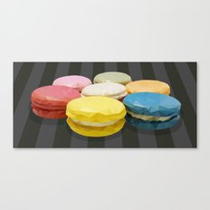 Geometric Macaroon Sweet Canvas Print