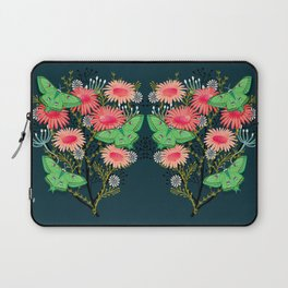 Laptop Sleeve - Luna Moth Florals by Andrea Lauren  - Andrea Lauren Design