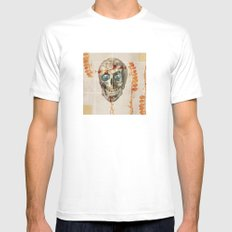 skull#04 SMALL Mens Fitted Tee White
