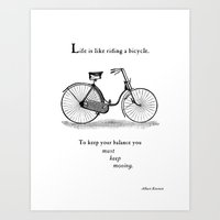 You Must Keep Moving Art Print
