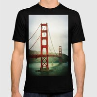Golden Gate Mens Fitted Tee Black SMALL