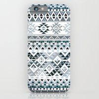 iPhone & iPod Case featuring GEO TRIBAL N. // GRAY VERSION by Nika