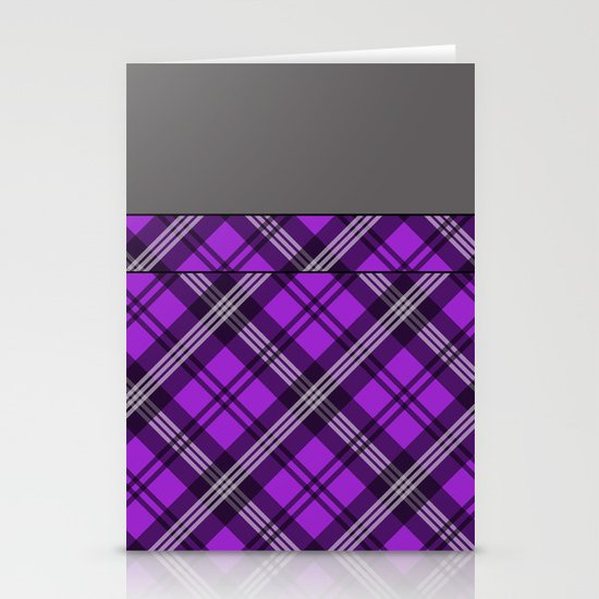 Scottish Plaid (Tartan) - Purple Stationery Card