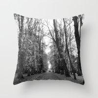 Leafy Walk Throw Pillow