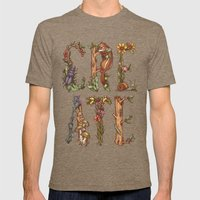 Create Mens Fitted Tee Tri-Coffee SMALL