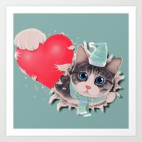 Steal Heart Art Print