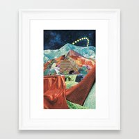 THE MELTING WALL (3) Framed Art Print