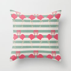 Pink Kisses Throw Pillow