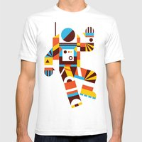 Hello Spaceman 2.0 Mens Fitted Tee White SMALL