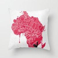 RE | Draw AFRIKA Throw Pillow