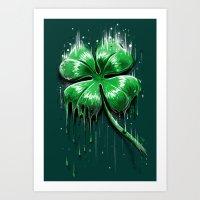 Melting Luck Art Print