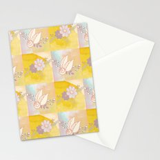 Square Flowers Pattern Stationery Cards