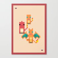 Red Family Canvas Print