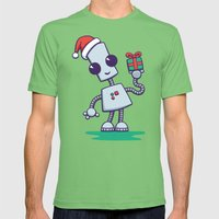 Ned's Christmas Mens Fitted Tee Grass SMALL