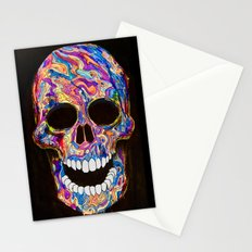 Chromatic Skull 02 Stationery Cards