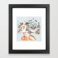 Framed Art Print featuring Nymph by Steve W Schwartz