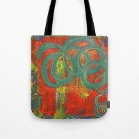 Green Spirals Tote Bag