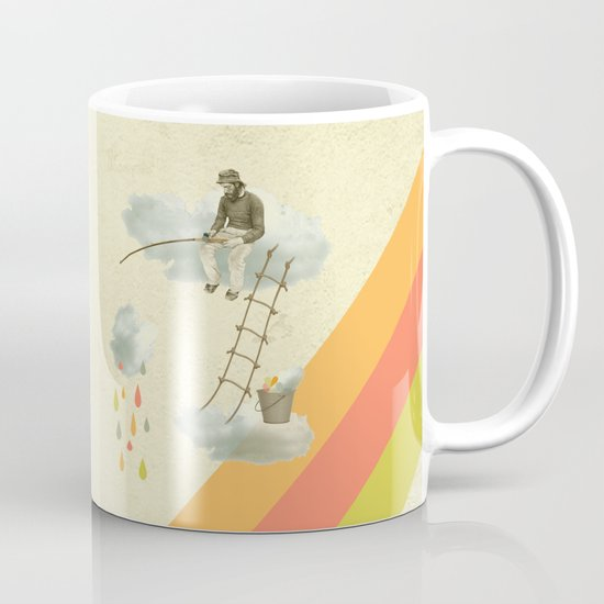 The fisherman who was cleaning the sky from the clouds Mug