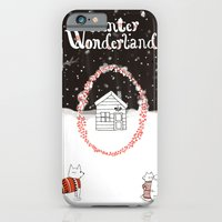 iPhone & iPod Case featuring Winter Wonderland Holiday card/illustration by Jennifer Reynolds