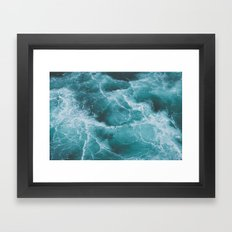 Electric Ocean Framed Art Print