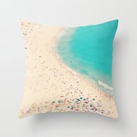 beach love III - Nazare Throw Pillow