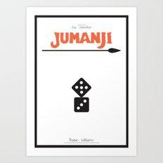 Jumanji - minimal poster Art Print
